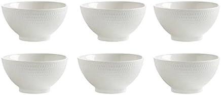 Preisvergleich für Maxwell & Williams 6er Set Dessertschalen Diamonds Round D. 12,5cm H. 6,5cm weiß