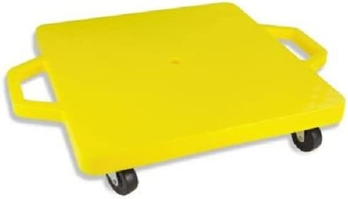 Champion Sports Standard Scooter Board with Handles, Assorted Colors (Yellow or Blue), 12 Inches
