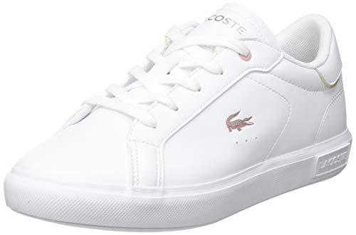 Lacoste Sport POWERCOURT 0921 2 SUC Sneaker, Wht/Lt Pnk, 32 EU
