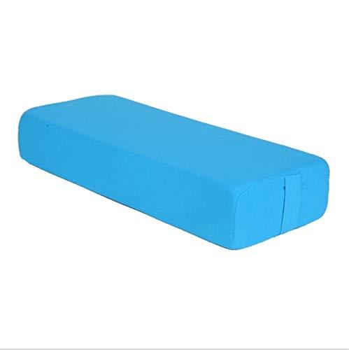 WEARRR Cubierta de algodón Almohada de Yoga Almohada TPE de Alta Densidad Forro de Espuma Bloque de Yoga Ejercicio Gimnasio Gimnasio Adelgazante Yoga Mat Yoga Almohada (Color : Blue)