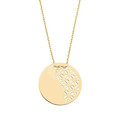 amor Kette mit Anhänger für Damen, Gold 375