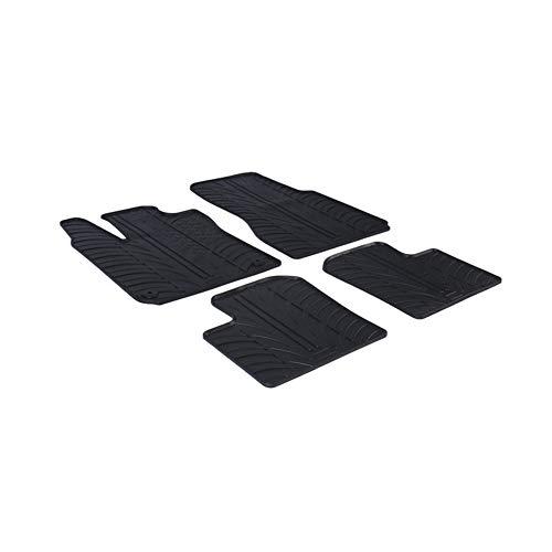 Gledring Set tapis de caoutchouc Renault Twingo III 2014- (T profil 4-pièces + clips de montage)