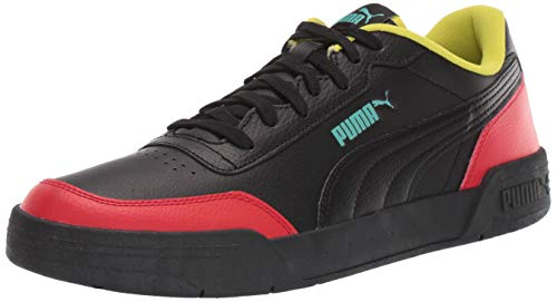 PUMA CARACAL Sneaker, Black-High Risk Red-Nrgy Yellow, 10.5 M US