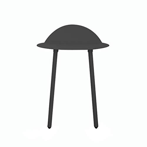 HSJ WYQ- Mesa Auxiliar Lado de Hierro Mesa Auxiliar Creativa Mesa de Centro pequeña en la Sala de Estar Mesa de Centro del sofá (Color : Black, Size : 70cm)