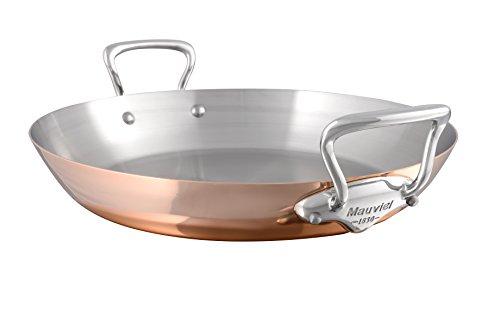 Mauviel Made In France 6137.35 M\'Heritage Copper 150s Paella-Pfanne mit Edelstahlguss-Griff