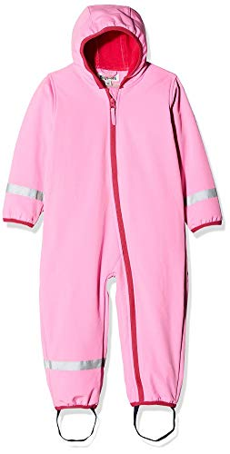 Playshoes Baby-Unisex Softshell-Overall Fleece gefüttert Schneeanzug, Rosa, 80