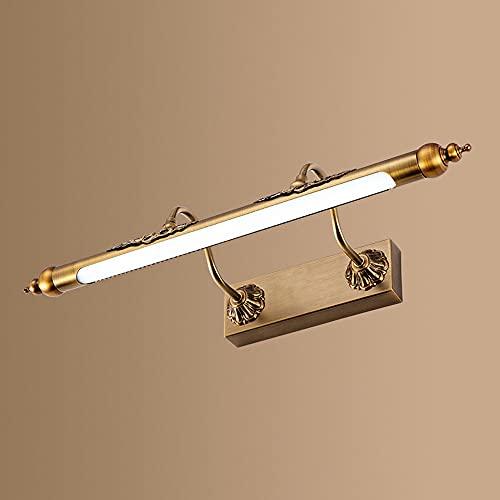 Lámpara de frente con espejo, accesorio de iluminación LED para tocador de baño, aplique ajustable de acero inoxidable para tocador, luz para gabinete con espejo, iluminación de imagen con marco, luce