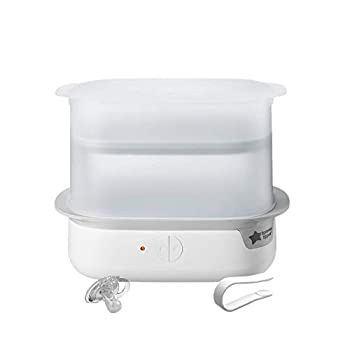 Tommee Tippee Advanced Steam Electric Sterilizer for Baby Bottles Kills Viruses and 99.9% of Bacteria 5-Minute Sterilization Cycle