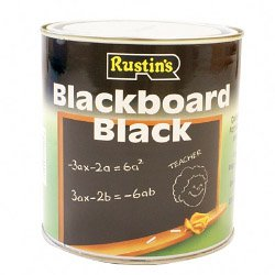 Rustins black board paint for a chalkboard wall