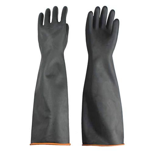 Handschuhe Säurefest Lang-Chemikalien Schutz Handschuhe-Säure-und Alkalibeständigkeit handschuhe Chemie Handschuhe, Schwarz 1 Paar 55 cm, Nur Eine Größe