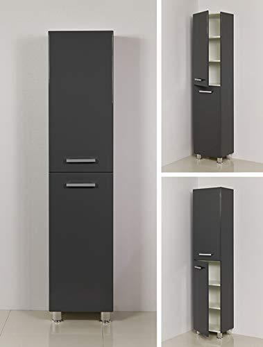 Quentis Badschrank Tango, Hochschrank, stehend, eine Türe, anthrazit glänzend, vormontiert