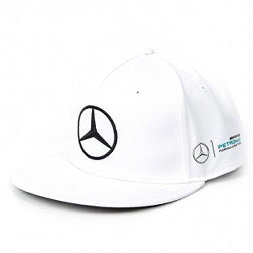 Mercedes AMG F1 Replica Puma Hamilton Peak piatto Berretto bianca Ufficiale 2017