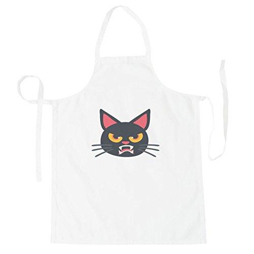 INNOGLEN Katze Halloween Smile Schürze r549b