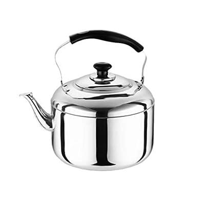 Yardwe 5.5L Teakettle Stove Top Whistling Tea Kettle - Stainless Steel Teapot with Handle,Stovetop Safe Tea Kettle, Blooming and Loose Leaf Tea Maker