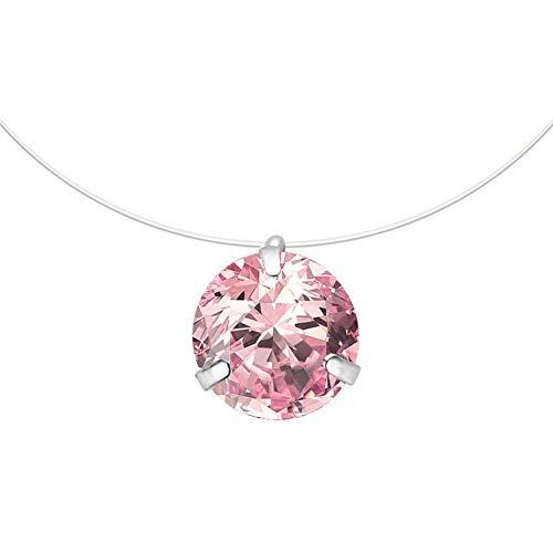 CHOUCHOU Colgante Pendientes Collar Largo Pendiente Collar de la Mujer Salvaje Ropa Accesorios Collar Cadena de la clavícula, Tamaño: Estados 47cm, Color: 02pink (Color : 02pink, Size : United 47cm)