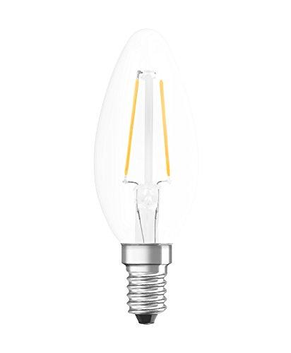 Osram Ampoule LED à Filament | Culot E14 | Forme Flamme | Blanc Chaud 2700K | 1,4W (équivalent 15W)