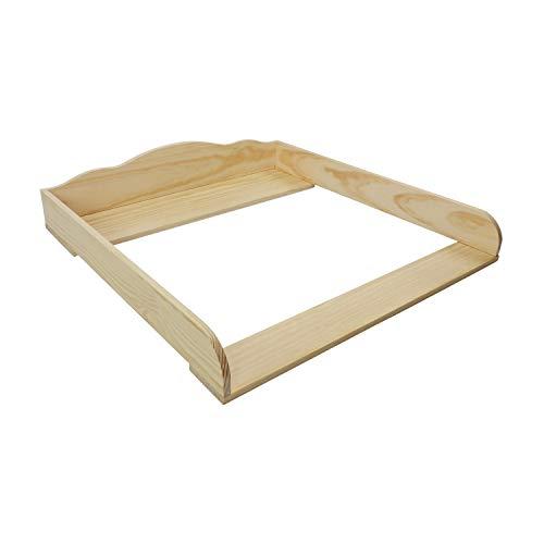 Puckdaddy Wickelaufsatz Lars – 80x80x15 cm, Wickelauflage aus Holz in Natur, hochwertiger Wickeltischaufsatz passend für IKEA Hemnes Kommoden, inkl. Montagematerial zur Wandbefestigung