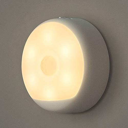 Yeelight - Luz nocturna LED (carga USB, infrarrojos, magnético, con gancho, detector de movimiento), color blanco