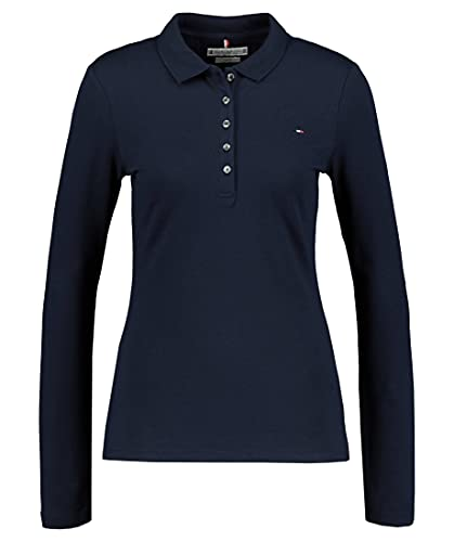 Tommy Hilfiger Heritage Long Sleeve Slim Polo, Azul (Midnight 403), XX-Large para Mujer
