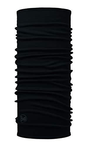 Buff Solid Tour de Cou Laine mérinos Midweight Mixte Adulte, Noir, FR Unique Fabricant : Taille One sizeque