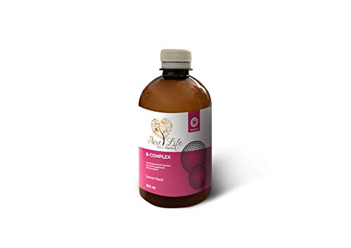 Liposomal Vitamin B Complex Liquid | Vitamins B3, B5, B6,B1,B9, B7,B12 | Pure Life Vitamins | 300ml (for 2 Months)
