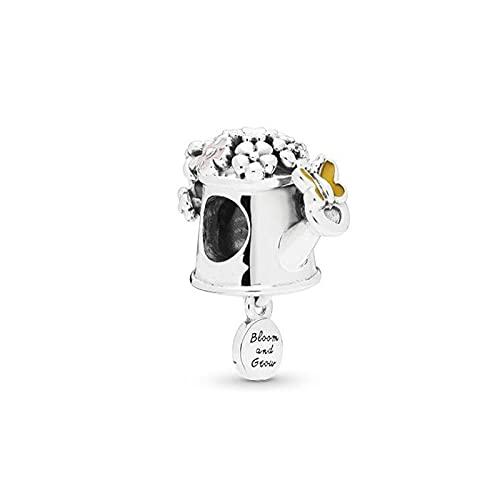 Pandora 925 Sterling Silver DIY Jewelry CharmLujoso colgante de flor de mariposa europea Cuentas Accesorios de joyería hechos a mano para mujeres