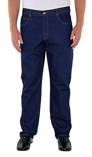 Herren 5-Pocket Jeans 60, 62, 64, 66, 68, 70, XL, XXL, 3XL, 4XL, 5XL, 6XL, Große Größen, Übergröße, Big Size, Plus Size (70, Dark Blue)