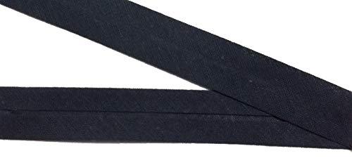 Großhandel für Schneiderbedarf Gröger 15 m Baumwollschrägband schwarz 20 mm vorgefalzt 0,66 €/m