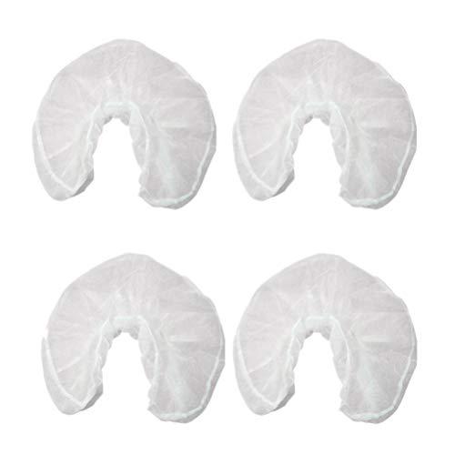 Kuinayouyi 50 fundas desechables en forma de U para reposacabezas, de papel de belleza, spa, salón, cama, masaje, cara, cuna, reposacabezas
