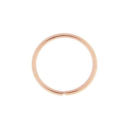 iDeals SMALL FAKE NOSE RING HOOP SEPTUM RING CARTILAGE TRAGUS HELIX CONCH DAITH EARRING 8MM ROSE GOLD
