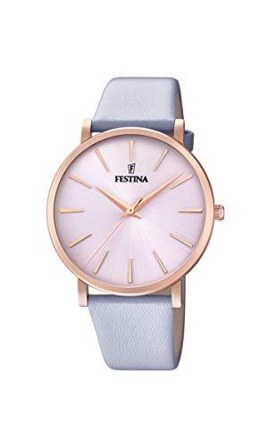 Festina Damen Analog Quarz Uhr mit Leder Armband F20373/1