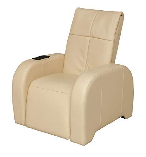 KEYTON Massagesessel   Massagestuhl Leder beige Omega - auch als TV Sessel oder Fernsehsessel geeignet welcon.de
