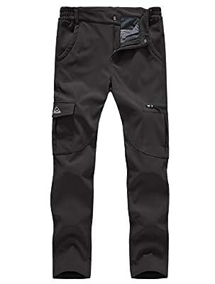 Gopune Women's Waterproof Windproof Outdoor Hiking Snow Ski Insulated Pants (Black,L)