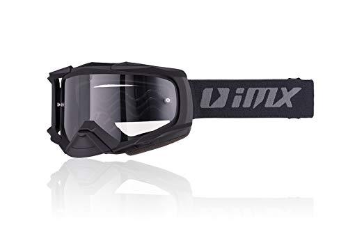 Goggles IMX DUST Dark Smoke + Clear Lens Doble lente Antiniebla Visera tintada y transparente Protección nasal antirrayas Espuma de tres capas Motocross Enduro MTB Downhill MX