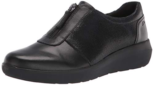 Clarks womens Kayleigh Sail Loafer, Black Interest Suede Combi, 7 Wide US