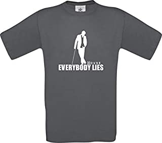 Dr House Everybody Lies Culte T-Shirt