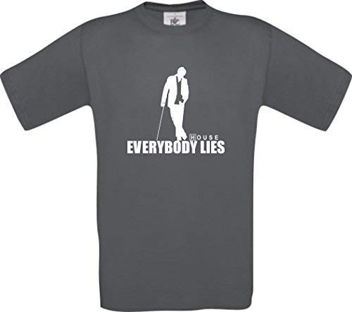Dr House - Everybody Lies Culte T-Shirt - 44, Gris