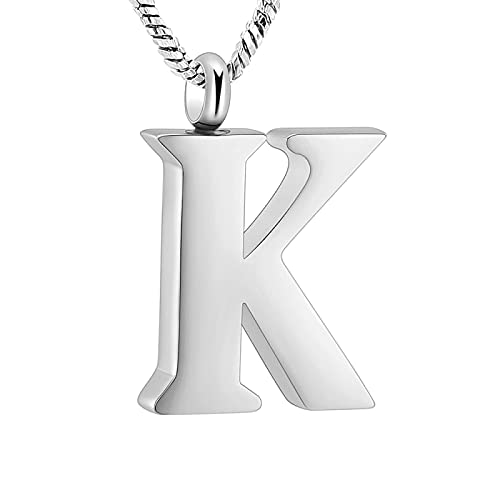 Initial 26 Letter Necklace for Women 925 Sterling Silver Alphabet Initial Pendant Necklace Personalised Gifts Ladies Girls K
