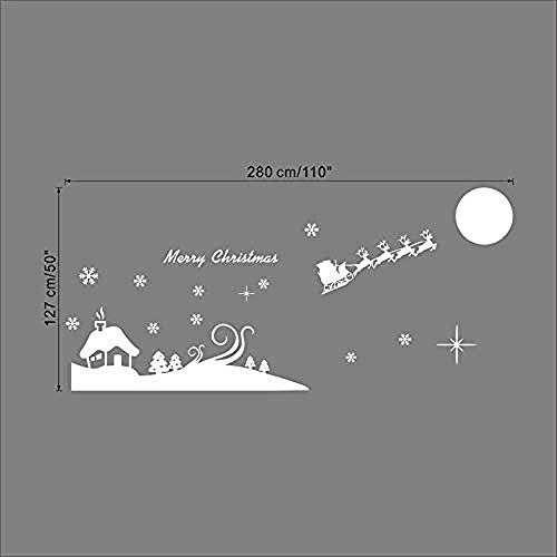 Gelukkig Nieuwjaar Boom Klokken Muursticker Slaapkamer Kids Kamer Windows Home Decor Vinyl Gelukkig Kerstmis Muurstickers DIY MuralChristmas Home Decor