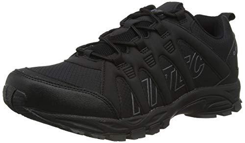 Hi-Tec Warrior, Zapatillas para Caminar Hombre, Negro, Gris, 44 EU