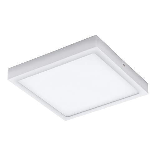 EGLO LED Außen-Deckenlampe Argolis, 1 flammige Außenleuchte für Wand und Decke, Deckenleuchte aus Alu und Kunststoff, Farbe: Weiß, IP44
