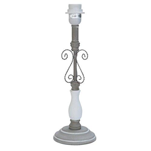 Clayre & Eef 6LMP361 Tischlampe Stehlampe Lampenfuß grau ca. 48 cm
