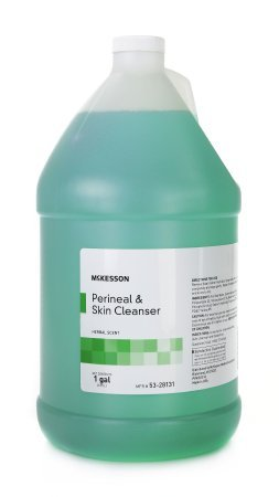 MCK25311800 - Mckesson Brand Perineal Wash MSA No-Rinse Liquid Jug Herbal Scent