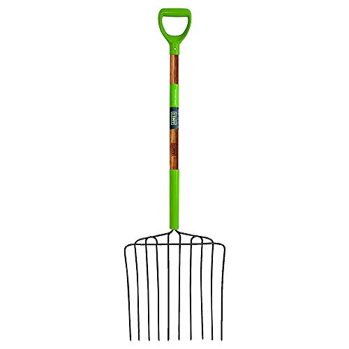 AMES 2827000 10-Tine Welded Steel Ensilage Fork with Hardwood Handle and D-Grip, 52-Inch