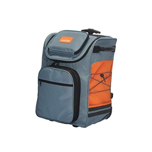 Mochila refrigeradora de laminación aislada Mejorada, Gran Capacidad 49L, a Prueba de Fugas aisladas, Playa de Campamento de Picnic y Viajes (Color : Orange, tamaño : 36 * 28 * 49cm)