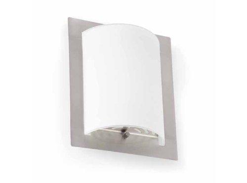 Faro Barcelona Diula 62987 wandlamp, 60 W, metaal en doorschijnend glas