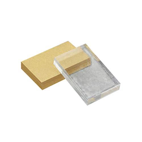Fontsime 軽量透明アクリルスタンプブロック長方形形状DIYスクラップブッキングカラープロセススタンプブロックツール