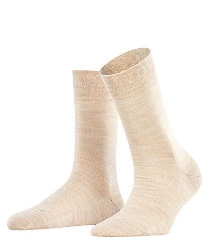 FALKE Damen Socken Sensitive Berlin - Merinowollmischung, 1 Paar, Beige (Linn Melange 4549), Größe: 39-42