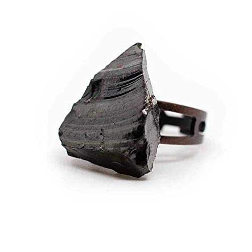 Elite Shungiet Edelsteen Ring Koper Verstelbaar