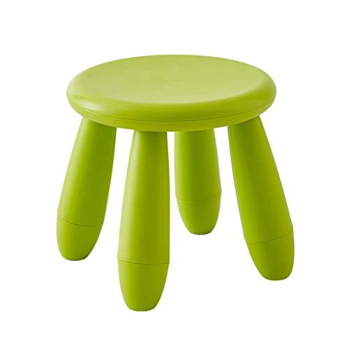 M-zmds Tabouret en Plastique empilable - Tabouret de Jardin ultraléger - Tabouret empilable extérieur pour Balcon et terrasse, Cuisine, Bain & Douche, Blanc (Couleur : Style A)